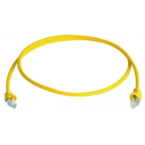 Võrgukaabel Cat6a S/FTP 0.5m kollane LSZH