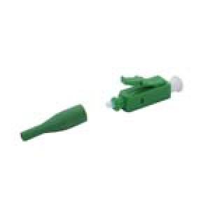 FO pistik singlemode LC/APC simplex 900um roheline
