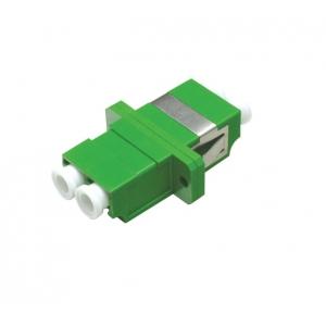 FO adapter singlemode LC/APC duplex roheline