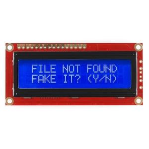 LCD maartiksdisplei 16x2, kollane kiri, sinine taust, 5V