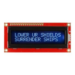 LCD maartiksdisplei 16x2, valge kiri, must taust, 3.3V