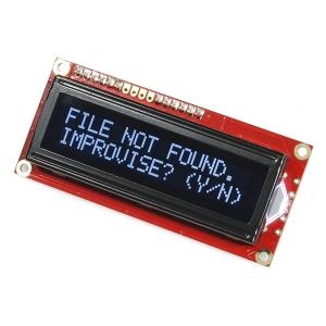 LCD maartiksdisplei 16x2, valge kiri, must taust, serial, 3.3V