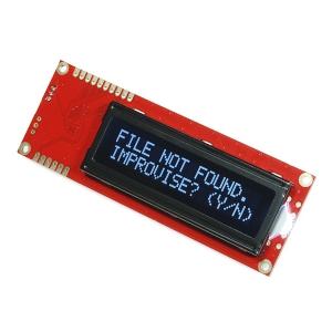 LCD maartiksdisplei 16x2, valge kiri, must taust, serial, 5V