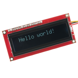 LCD maartiksdisplei 16x2, valge kiri, must taust, serial, ehituskomplekt