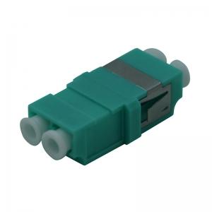 FO adapter multimode LC duplex aqua
