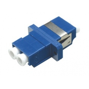 FO adapter singlemode LC duplex sinine