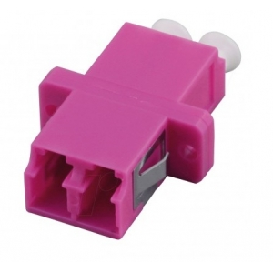 FO adapter multimode LC duplex OM4 violet