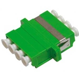 FO adapter singlemode LC/APC quad roheline