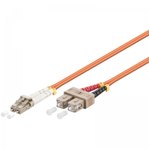 FO jätkukaabel multimode LC-SC duplex OM2 (50/125) 0.5m