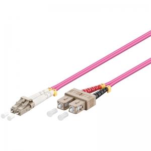 FO jätkukaabel multimode LC-SC duplex OM4 (50/125) 0.5m