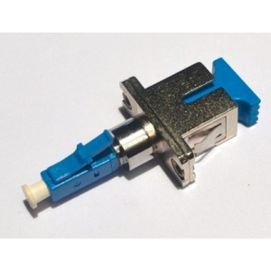 FO adapter singlemode LC(male)-ST(female) simplex metall