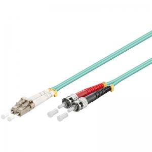 FO jätkukaabel multimode LC-ST duplex OM3 (50/125) 0,5m