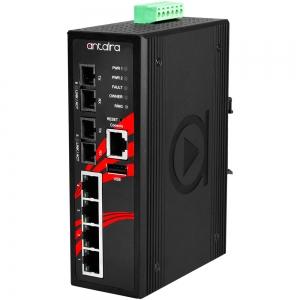 Switch: 4 x 10/100BaseT(X) PoE+, 2 x 100BaseFX multi-mode SC, -40 kuni 75°C, manageeritav, DIN, 48-55VDC