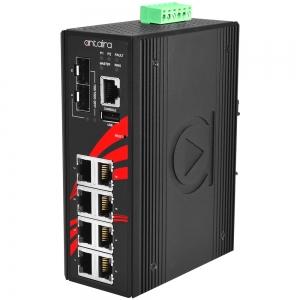 Switch: 8 x 10/100/1000BaseT(X) PoE+, 2 x SFP, -40 kuni 75°C, manageeritav, DIN, 12-36VDC, ATEX