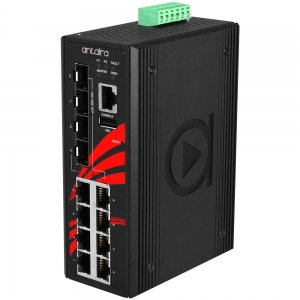 Switch: 8 x 10/100/1000BaseT(X) PoE+, 4 x SFP, -40 kuni 75°C, manageeritav, DIN, 48-55VDC, ATEX