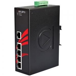 Switch: 4 x 10/100BaseT(X) PoE, 1 x 10/100BaseT(X), -10 kuni 70°C, mittemanageeritav, DIN, 12-36VDC