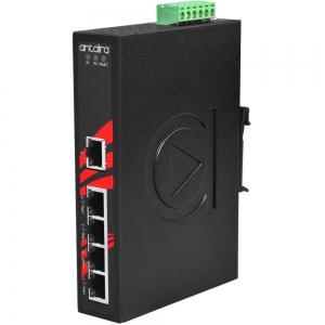 Switch: 4 x 10/100BaseT(X) PoE, 1 x 10/100BaseT(X), -40 kuni 80°C, mittemanageeritav, DIN, 48-55VDC