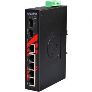 Switch: 4 x 10/100BaseT(X) PoE+, 1 x 10/100BaseT(x) / 2 x SFP, -40 kuni 80°C, mittemanageeritav, DIN, 48-55VDC