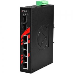 Switch: 4 x 10/100/1000BaseT(X) PoE+, 1 x 10/100/1000BaseT(X), 2 x SFP, -40 kuni 80°C, mittemanageeritav, DIN, 48-55VDC