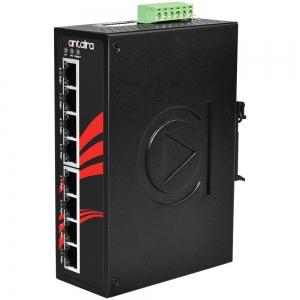 Switch: 8 x 10/100BaseT(X) PoE+, -40 kuni 80°C, mittemanageeritav, DIN, 12-36VDC
