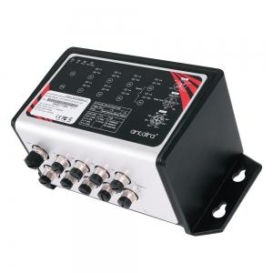 Switch: 8 x 10/100/1000 M12 PoE+, -10 kuni 60°C, mittemanageeritav, DIN