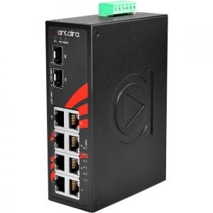 Switch: 6 x 10/100BaseT(X) PoE+, 2 x 10/100/1000BaseT(x) / 2 x SFP, -10 kuni 70°C, mittemanageeritav, DIN, 48-55VDC