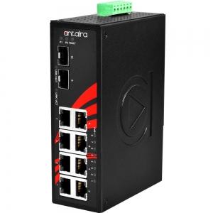 Switch: 8 x 10/100/1000BaseT(X) PoE+, 2 x SFP, -10 kuni 70°C, mittemanageeritav, DIN, 12-36VDC