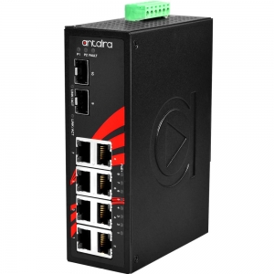 Switch: 8 x 10/100/1000BaseT(X) PoE+, 2 x SFP, -40 kuni 80°C, mittemanageeritav, DIN, 48-55VDC