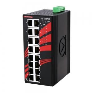 Switch: 16 x 10/100/1000BaseT(X) PoE+, -10 kuni 70°C, mittemanageeritav, DIN, 48-55VDC