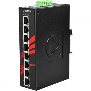 Switch: 8 x 10/100/1000BaseT(X) PoE+, -10 kuni 70°C, mittemanageeritav, DIN, 12-36VDC