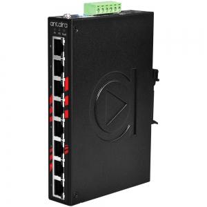 Switch: 8 x 10/100/1000BaseT(X) PoE+, -40 kuni 80°C, mittemanageeritav, DIN, 48-55VDC