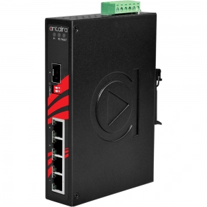 Switch: 4 x 10/100/1000BaseT(X), 1 x SFP, -40 kuni 80°C, mittemanageeritav, DIN