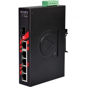 Switch: 5 x 10/100/1000BaseT(X), 1 x SFP, -40 kuni 80°C, mittemanageeritav, DIN