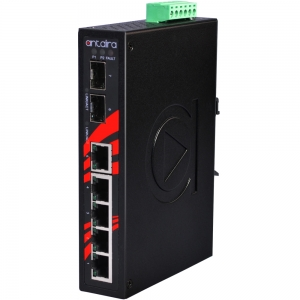 Switch: 5 x 10/100BaseT(X), 2 x SFP, -10 kuni 70°C, mittemanageeritav, DIN