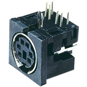 MINIDIN 6F pesa trükkplaadile PCB