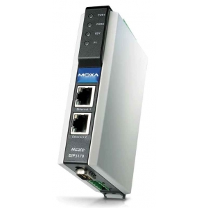 MOXA MGate EIP3170I-T EtherNet/IP to DF1 gateway,  1 port, 2 x 12 - 48 VDC toide, -40 kuni 75°C, opt. Isol. 2KV