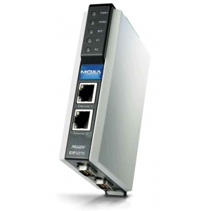 MOXA MGate EIP3270-T EtherNet/IP to DF1 gateway,  2 porti, 2 x 12 - 48 VDC toide, -40 kuni 75°C