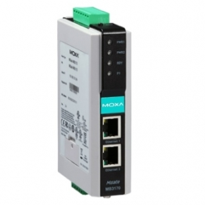 MOXA MGate MB3170I-T Modbus Serial to Ethernet Gateway, 1 port,  2 x 12-48 VDC toide, -40 kuni 75°C, opt. Isol. 2KV