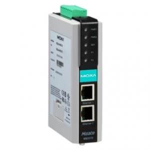 Modbus Serial to Ethernet Gateway, 2 porti,  2 x 12-48 VDC toide, -40 kuni 75°C, opt. Isol. 2KV