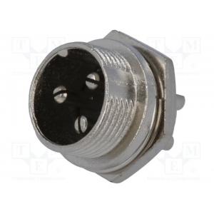 Mikrofoni pistik, isane, paneelile PIN 3 , MIC333
