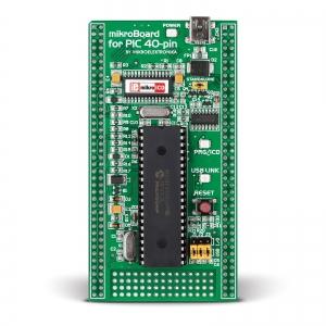 mikroBoard PIC 40-pin arendusplatvorm PIC18F mikrokontrolleriga