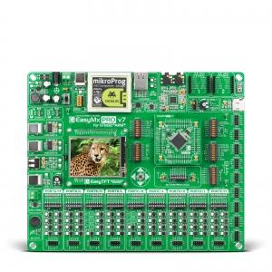 EasyMx PRO v7 arendusplatvorm STM32F107 mikrokontrolleriga