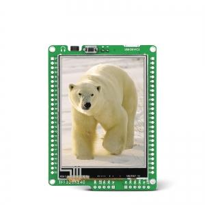mikromedia 2.8´´ nutikas displei PIC24EP mikrokontrolleriga