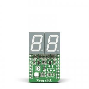 7seg click- 2x7-segment LED displei, punane