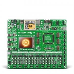 EasyPIC Fusion v7 arendusplatvorm ilma MCU moodulita