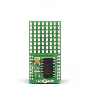 8x8 B click - 8x8 LED maatriks displei, sinine