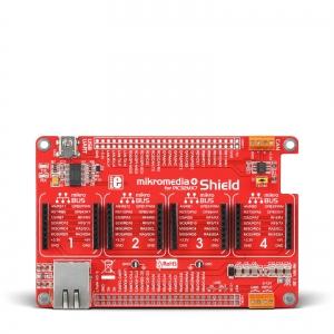 mikroBUS Shield adapterplaat mikromedia Plus PIC32MX7 displeile