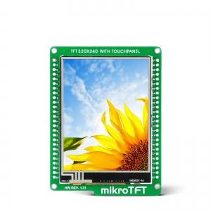 mikroTFT displei 2.8´´ 320x240px, puutetundlik