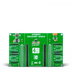 STM32F3 Discovery Shield - adapter 4 click moodulile