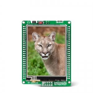 mikromedia 2.8´´ nutikas displei PSoC® 5LP mikrokontrolleriga